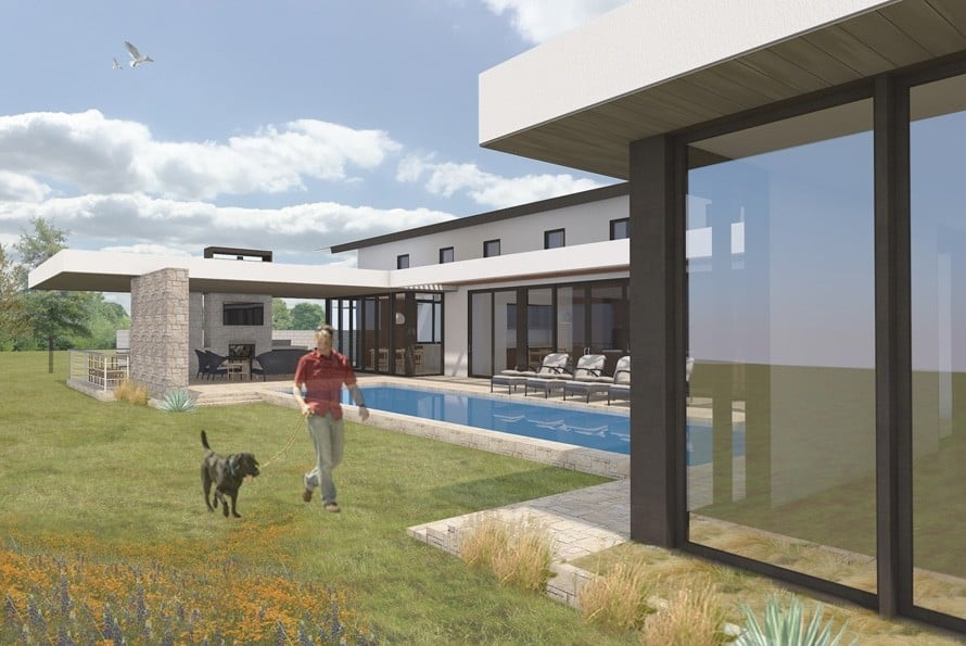 Rendering of Austin Home Jay Corder, AIA