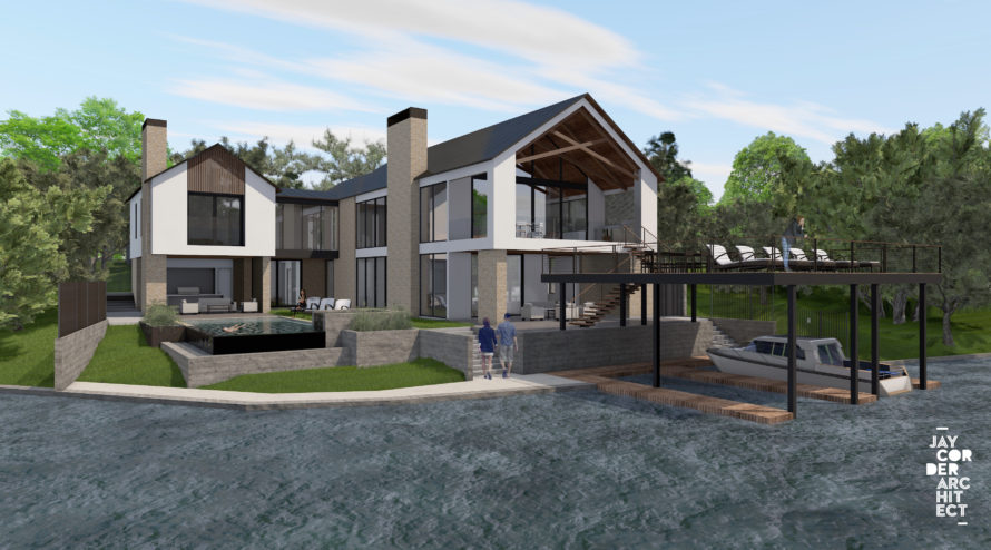 Austin Residence Rendering Jay Corder, AIA