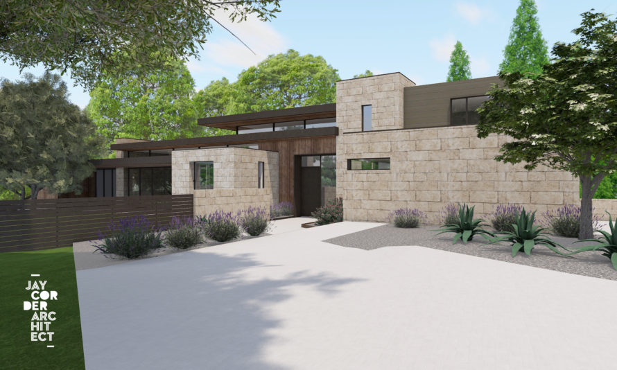 Rendering of home on Redbud Trail
