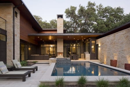 Jay Corder, AIA Design, Cherry Lane Residence Pool View