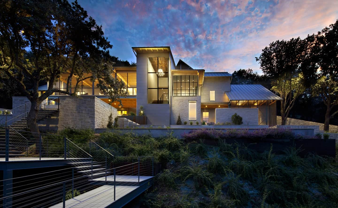 Exterior View of Horseshoe Bay Residence by Jay Corder Architect