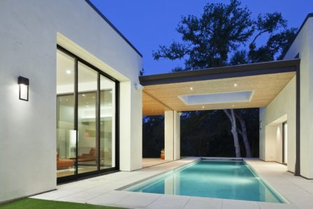 Pool View of Shoal Creek Residence